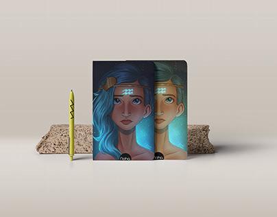 Mini notebook zodiac signs