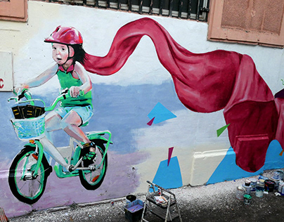 Mural painting - Cycling dreams