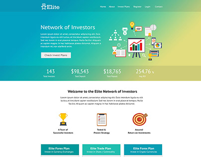 Elite – HYIP Template