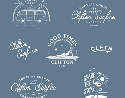 CLFTN Surf - Branding