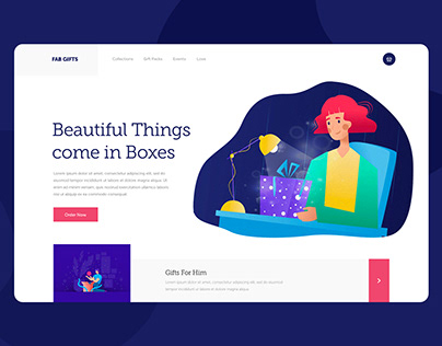 Gifts Landing Page