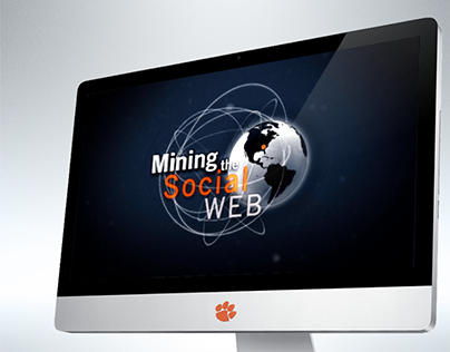 Mining Social Web Cover for Clemson World magazine iPad