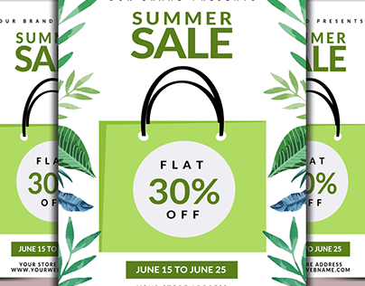 Biggest Summer Sale Flyer