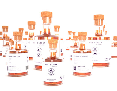 Bottles of oil - product design. Photo Video + realtime