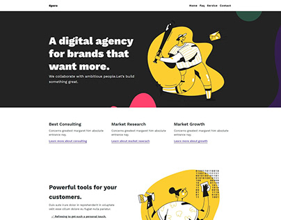 Spero – Trendy looking Free Bootstrap template