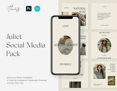 Juliet Social Media Pack Canva & PS