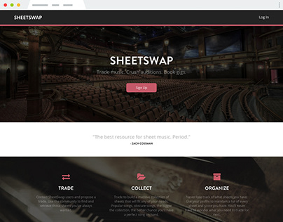 SheetSwap site design