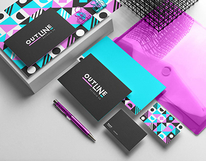 Outline Estúdio 3D   Identidade Visual & Branding