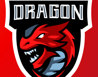 Dragon Gaming Mascot Logo | Sports Logo | eSports Logo