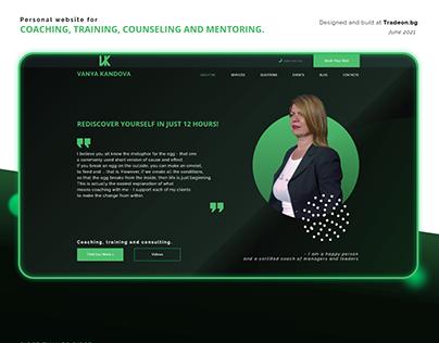 Personal coaching website for Vanya Kandova