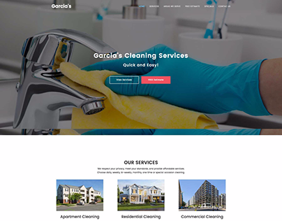 Website for Garcia's Cleaning Services