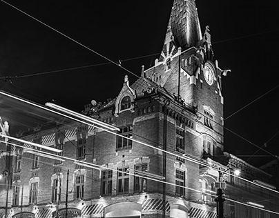 Center of Krakow B&W - part III