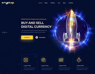 Cryptop - Crypto Currency WordPress Theme