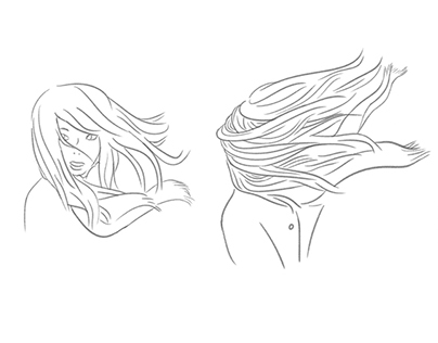 Blonde dans le vent