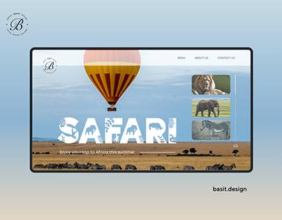 Safari Website Concept