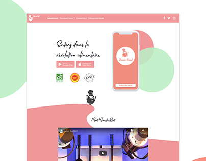 Website / UX Mobile App Bionic Food