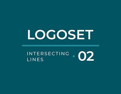 Logoset. Intersecting lines 02