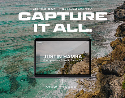 Justin Hamra Photography | Responsive Website