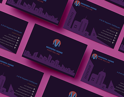 Minimal Logo and business card for brands and company .