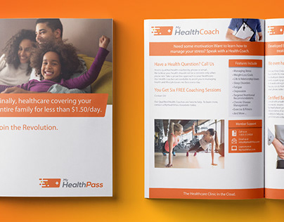 Tri-fold, Catalog, Debit Card, One-sheets: MyHealthPass