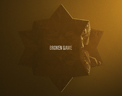 Broken Game. Main title design