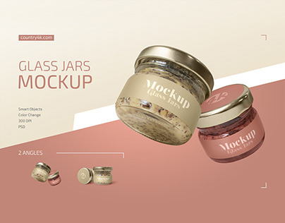 Glass Jars Mockup Set