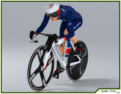 3D Model: Track Cyclist Animated HQ