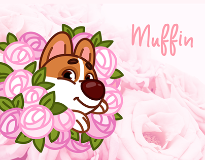 Muffin Corgi Dog - Telegram Animated Stickers