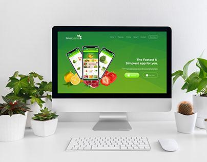 Green Market Mobile landing page - UI UX Design