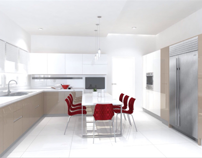 Kitchen at Ayala Heights (Collaboration with Scavolini)
