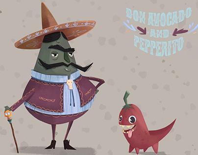 Mariachi Don Avocado and his dog Pepperito