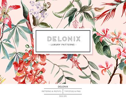 Delonix. Exquisite floral Pattern Design