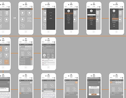 Project management software- mobile wireframes