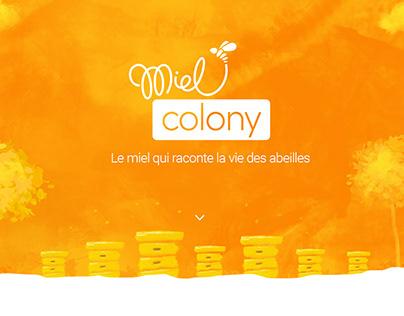 MielColony web site design
