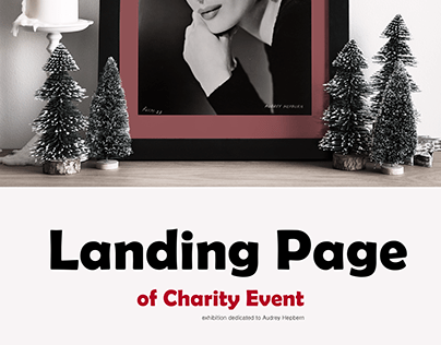 Charity Exhibition Landing Page