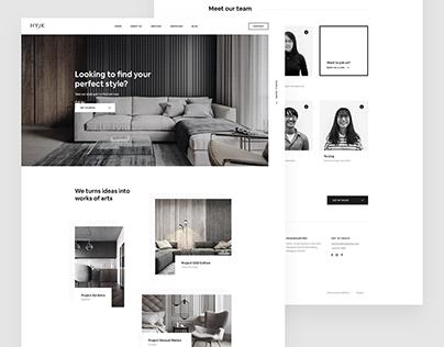 HYJK - Interior Studio Website Design
