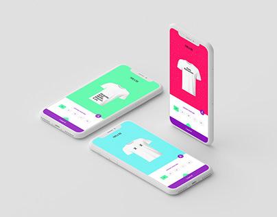 Type a tee - T-shirt App