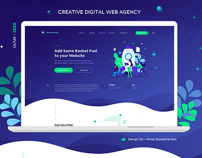 Digital Web Agency - Flat Website Design