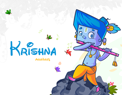 Krishna Avatars Illustration