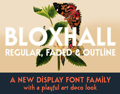 Bloxhall retro display font family & free sample!