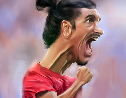 digital caricature for ibrahimovic