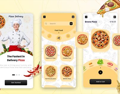 Pizza Delivery UI Designs