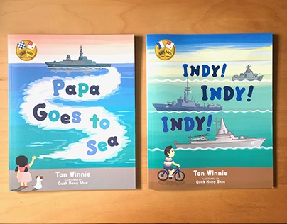 Ahoy, Navy! picture books illustration.