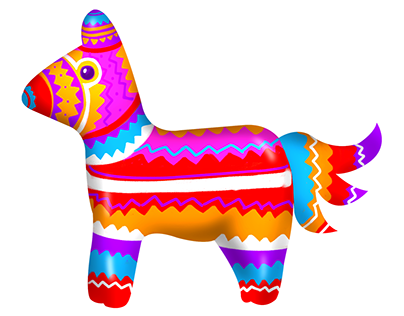 Mexican Fiesta - Skill Game Character - Horse