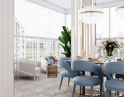 "Living room in ""Krestovsky De Luxe"""