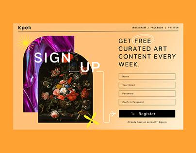 Kpeli - Sign Up Form