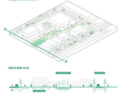 Urban Axonometric Diagram in Illustrator