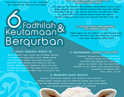 Poster - 6 Benefit of Qurban (Indonesian)