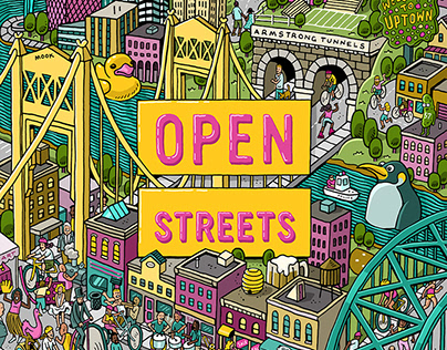 OpenStreetsPGH Promo Posters