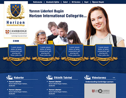 Horizon - Cambridge Associate School // Web Site Design